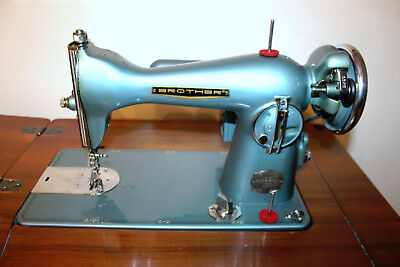Antique Brother Precision Sewing Machine, Model 050, Wooden Cabinet, Manual