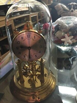 Glass Dome Clock  Not Working Complete Clock With Key