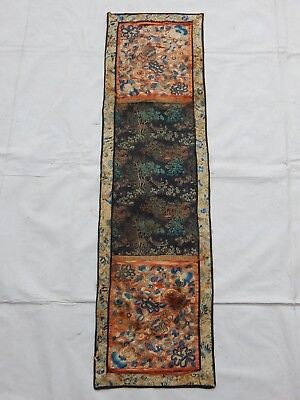 Antique Chinese Hand Embroidery Silk Seed Embroidery Wall Hanging Panel (X792)