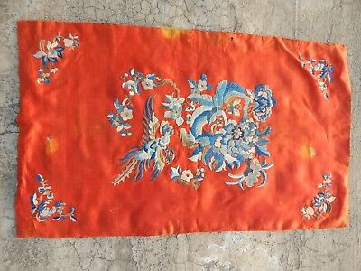 Antique Chinese Hand Embroidery Silk Wall Hanging Tapestry/Panel 66X40cm (X739)