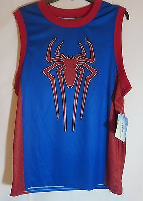 a63466b77ca Men's Marvel Lg The Amazing SPIDER-MAN 2 Sleeveless Basketball Jersey Shirt  #62