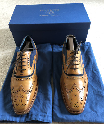 8c333f0ac1f40 Barker Shoes - Mens McClean Brogue Cedar Calf and Blue Suede - GREAT  CONDITION