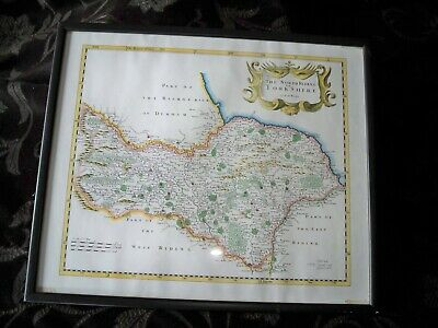 Vintage Map, The North Riding of Yorkshire by Robert Morden
