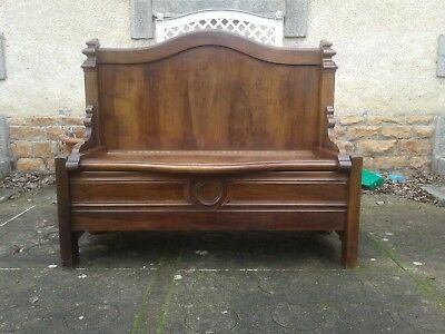 French antique vintage Henri ii style settle