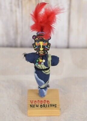 Vtg Voo Doo Doll Voodoo Painted New Orleans Louisiana Lucky Magic 7""