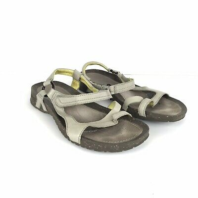 9a76b76f7 Teva Size 7.5 Cabrillo Universal Sandals Straps Leather Taupe Tan Size 7.5