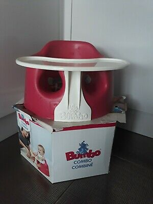 Pink bumbo seat with tray