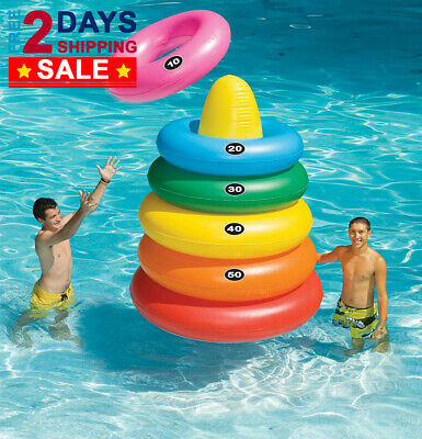SWIMLINE GIANT RING Toss Swimming Pool Inflatable Game Float ...