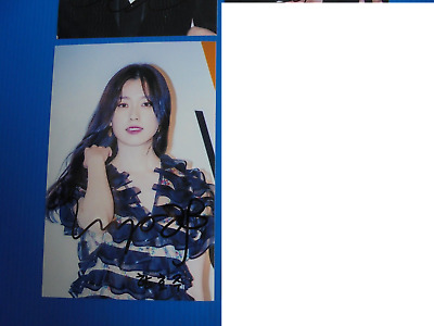 HAN HYO JOO W KPOP Korean Actress 4x6 Photo Autograph hand