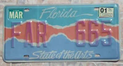 Fla State of FL Florida State of the Arts Specialty Auto Car License Tag Plate