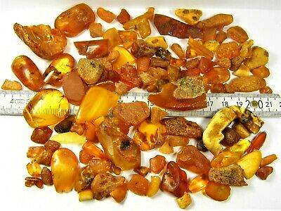 Old Natural Baltic Amber stones genuine 100 grams vintage retro antique 2382