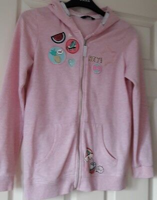 VGC Girls George pink zip hoodie size 12-13 Years