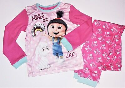 BNWoT Girls Dispicable Me Agnes pink pyjamas size 6 Years