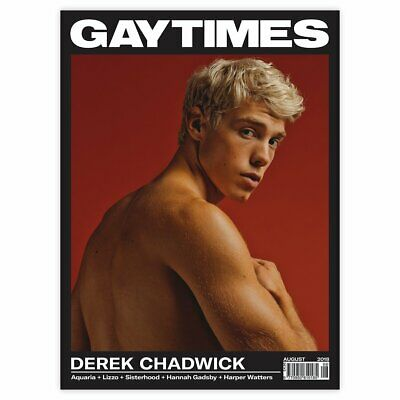 Gay Times Magazine August 2018 Issue Derek Chadwick Cover LGBT Gay Interest