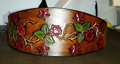 Handcrafted Leather whippet lurcher greyhound izban Collars