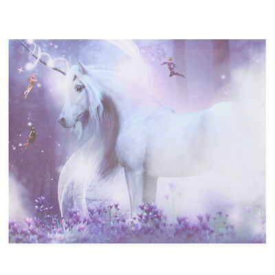 Purple Magic Unicorn Modern Canvas Print Art Painting Picture Home Wall Decor
