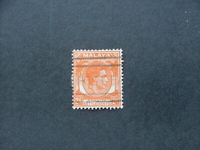 Straits Settlements KGVI 1941 2c orange SG294 GU