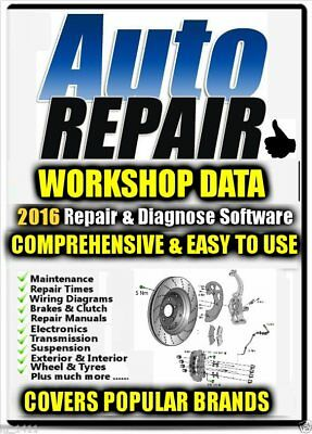 All Auto Garage & Workshop Repair Data 2016 inc Service & Wiring Diagrams