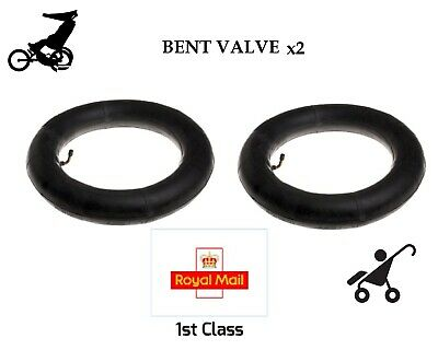 """2 x Inner Tubes 12"""" BENT VALVE Fits MOTHERCARE MY3 & MY4 -- 1st Class Royal Mail"""