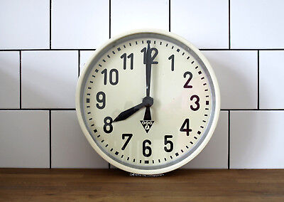 battery operated PRAGOTON wall clock - metal vintage industrial loft IBMmovement