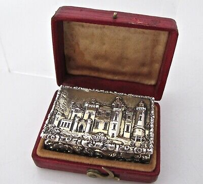 William IV boxed silver-gilt 'castle-top' vinaigrette NATHANIEL MILLS B'ham 1837