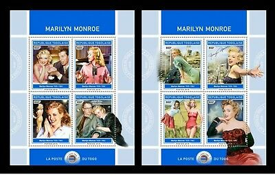 Togo 2018 - Marilyn Monroe official souvenir sheet set mnh