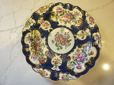 English 1St Period Worcester Porcelain Scale Blue Plate C1770