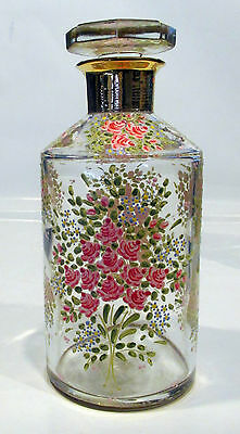 Two Bottles Made in France Hand Painted Mint Condition Vintage