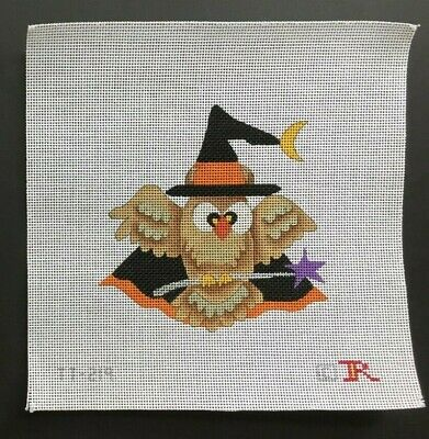 Renaissance Designs Hand-painted Needlepoint Canvas Colorful Halloween Owl