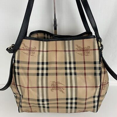 92feb2baa66a AUTHENTIC BURBERRY HAYMARKET BLACK TRIM SALISBURY TOTE SHOPPING BAG ...