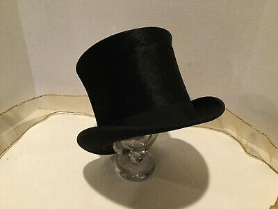 Antique Top Hat Silk MOVEO ET PROFICIO NY - STAUB, KELLER  & CO Frederick