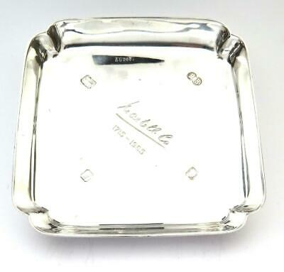 Vintage Solid Silver Ashtray Martell 250th Anniversary 126.5gr London 1964