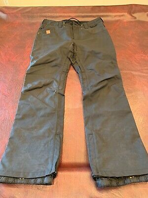 5dfa9990260 2017 MENS DC RELAY SNOW PANTS  170 L Waxed Black tailored fit polyester USED