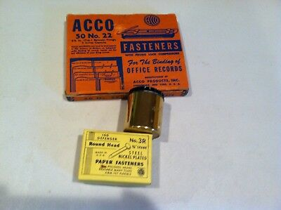 ACCO Fasteners Round Head K McD Brass Roseland Pencil Sharpener Office LOT OLD
