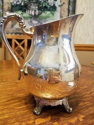 Water Pitcher with Ice Lip- Silverplate Hollowware - F B Rogers patt 3707
