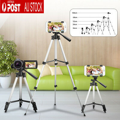 Professional Camera Tripod Stand Mount + Phone Holder for Phone iPhone Samsung !