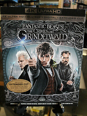 Fantastic Beasts And The Crimes Of Grindelwald 4K Ultra HD+Blu-Ray USED W/ SLIP