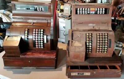 2 Vintage 1920's NCR National Cash Register Class 1000 W/ Keys