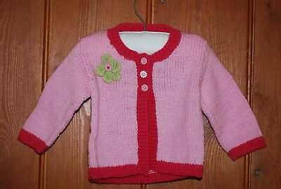 BN, Girls, Vibrant Pink, Hand Knitted, Casual, Party, Cardigan, 6-9 months