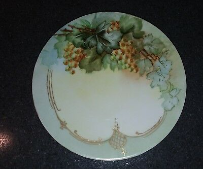 JPL Jean Pouyat Limoges France Hand Painted  Plate Signed Gordon 07. Or 01