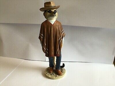 Superb Country Artists Magnificent Meerkats Cowboy Figure