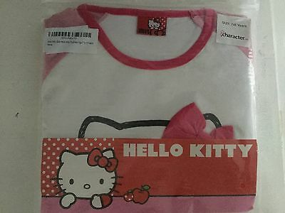 Girls HELLO KITTY Long Pyjamas / PJs - Pattern 7 8 Years