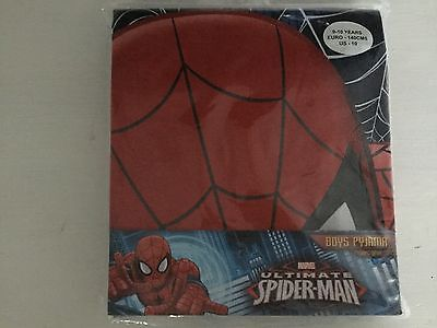 Spider-Man Boys Spiderman Pyjamas Full Face Ages: 7/8 Years