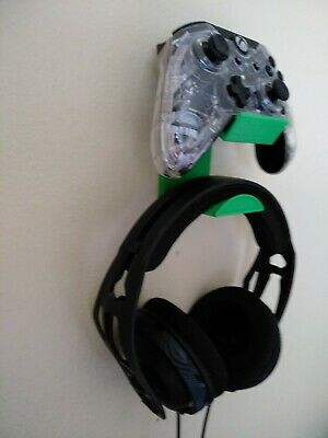 3D Printed XBOX One PlayStation PS4 Controller+Headset Wall Mount Hanger Holder
