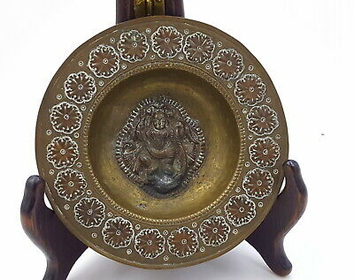 Antique Indian brass small dish 19th century