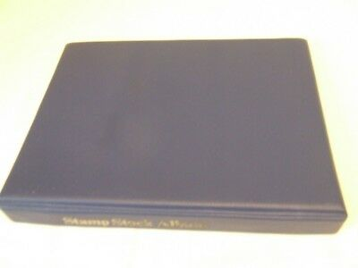 Wh Smith Blue Luxury Padded 4 Ring Stamp Album & Lighthouse Black Stockpages