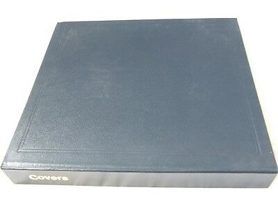 Stanley Gibbons Mult-O-Ring Blue 22 Ring Stamp Covers Album & Leaves, Excellent