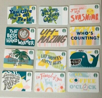 Starbucks Gift Cards ~ 2019 Recycled Series 6163, 12 Card Set ~ New/No Value