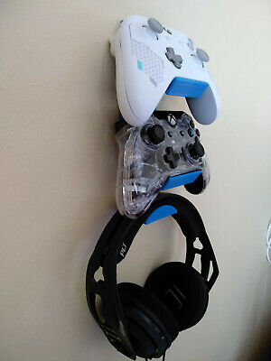 3D Printed XBOX One PlayStation PS4 2Controllers+Headset Wall Mount HangerHolder
