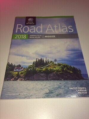Rand McNally 2018 Road Atlas America's #1 Midsize US Canada Mexico Owls Head